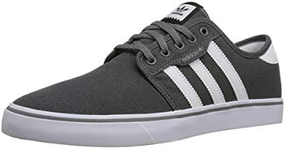 adidas Originals mens Seeley Running Shoe, Ash Grey/White/Black, 10.5 US