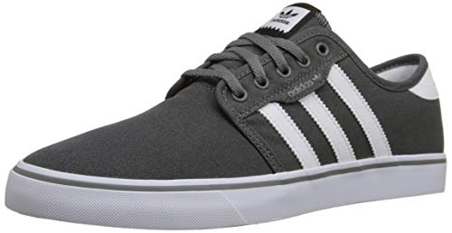 adidas Originals Men's Seeley Running Shoe, Ash Grey/White/Black, 11 M US