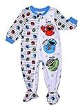 Sesame Street Elmo Cookie Monster Oscar Grouch Blanket Sleeper Footed Pajamas (24M) White