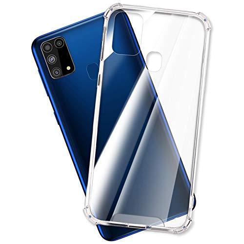mtb more energy® Hülle Crystal Armor für Samsung Galaxy M31 (SM-M315, 6.4'') - Hard PC Back und Soft Silikon Bumper - Anti Shock Schutzhülle Hülle Cover Tasche