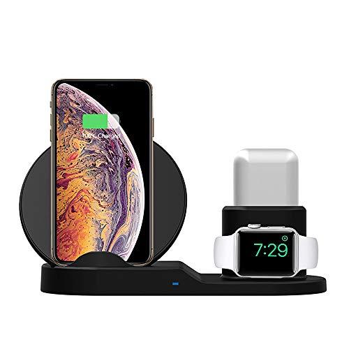 Kabelloses Ladegerät [nicht für iWatch] für AirPods Pro, 2-in-1 kabellose Ladestation, kabelloser Ladeständer, kompatibel mit iPhone 12/12 pro/12mini/11/11 pro/11 Pro Max/Xs/XS Max/XR/X/8/8P