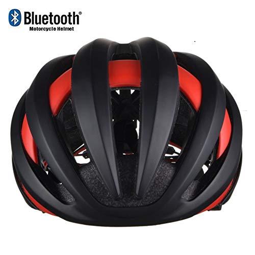 ZhangHai Casque de Vélo Bluetooth avec feu arrière à LED de sécurité Casque de VTT de Protection Ultraléger Montagne et Route pour VTC et VTT Adultes Hommes et Femmes L=56-62CM