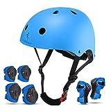 Casco de bicicleta para niños con certificado CE CPSC para niños y niñas de 3 a 13 años, cascos de bicicleta para adultos, ligeros, ajustables con almohadillas para seguridad, BMX y patineta (azul, S)