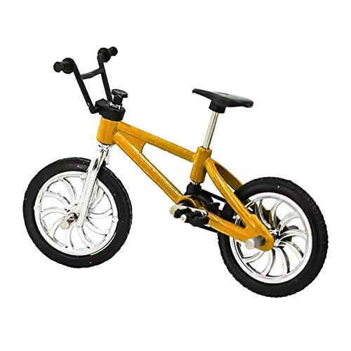 Miniatura Bicicleta De Montaña Modelo De Bicicleta Al Aire Libre Casa De Muñecas Accesorio Niños DIY Juguete - Amarillo