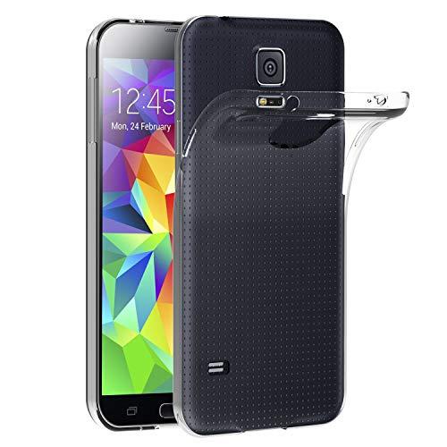 ivoler Compatibile con Cover Samsung Galaxy S5 / S5 Neo, Silicone Case Molle di TPU Trasparente Sottile Custodia