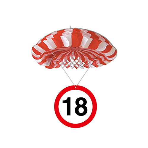 Preis am Stiel 1 x Geburtstags Deko-Fallschirm 18