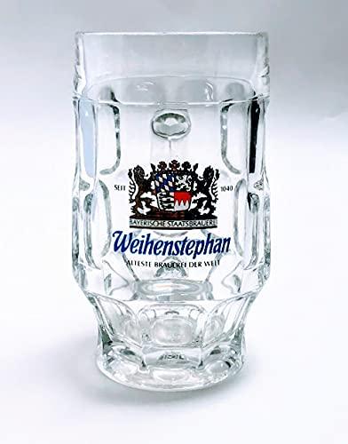 Weihenstephan Vaso de 0,3 cm, vaso de cerveza, jarra de cerveza, cristal, cerveza, gastronómico, bar, coleccionista, decoración.