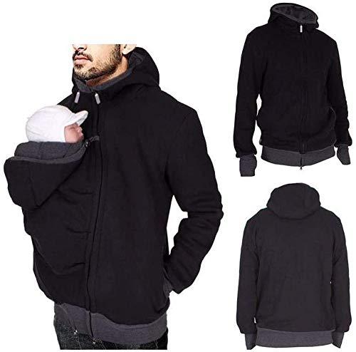 Designs Känguru Hoodie Babytrage Pullover Winter Warme Babytrage Mantel Multifunktions Männer Fleece Sweatshirt Hoodie Jacke Mit Baby Tasche M-2XL,XXL