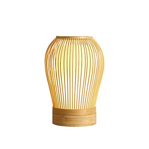 uus Lampe de table en bois Lampe de chevet E27 Base de l'ampoule 17 * 27CM (Energy-Saving A +) (taille : A-17 * 27cm)