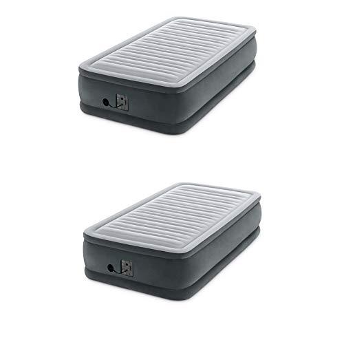 Intex Dura Beam Plus Series Elevated Airbed w/ Built in Pump, Twin (2 Pack)