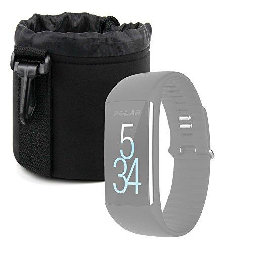 DURAGADGET Bolsa Negra para Smartwatch Diggro DI03 / Diggro DI02 / Diggro GV68 / Polar M200 / Polar M430 - Ligero para Transportar