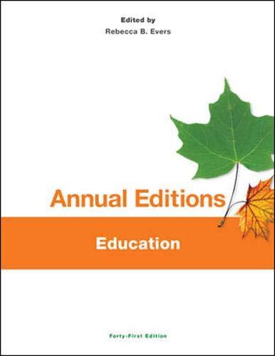 Annual Editions: Education, 41/e