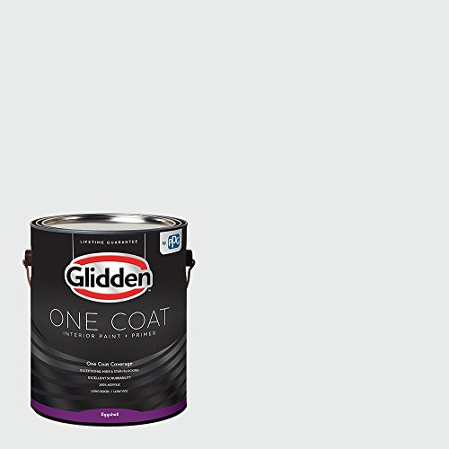 One Coat - Glidden - Interior Paint & Primer, White, White/Off-White Paint Color, Gallon, Eggshell