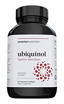 Smarter Ubiquinol - Plant-Based Active CoQ10 for Heart Liver & Brain Health - with Ahiflower Seed Oil The Richest Omega 3-6-9 Fatty Acid Profile in The World Vegetarian Softgel  30 Servings