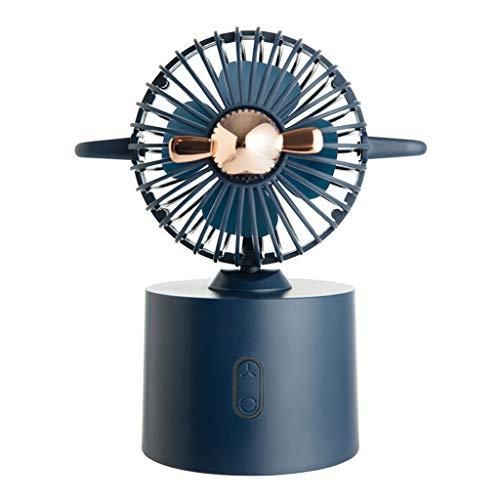 JIABAN Mini ventilador de escritorio silencioso portátil enfriador de aire USB carga