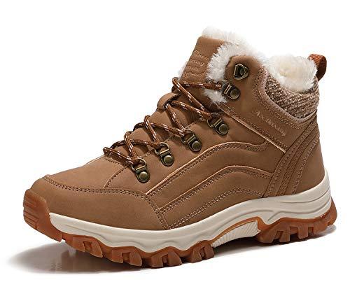 ARRIGO BELLO Botas Mujer Botines Zapatos Invierno Cálido Fur Forro Aire Libre Urbano Fiesta Oficina Caminando Senderismo 36-41 (Marrón, Numeric_38)