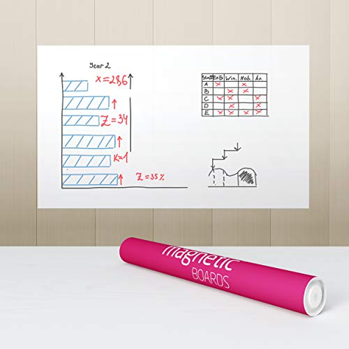 Elektrostatisch selbstklebende Whiteboard Folie - Tesla Amazing - Magnetic Boards - DIN A1 - Weiß - 5 Blätter