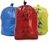 V.S Trader Biohazard/Bio-Medical Waste Bag (21x24 Inch, Red-5, Blue-5, Yellow-5) Pack of 15