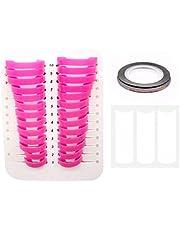 LERANXIN 26 Protector de uñas Arte, 10 Tipos de Plantillas de Esmalte de Uñas Rosa, con Dos Pegatinas de Uñas Diferentes, Que Pueden Proteger Mejor Las Uñas y la Piel