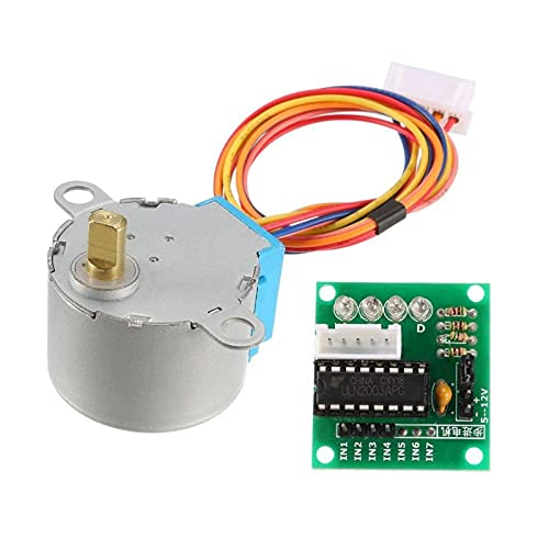 LIXIAONMKOP Electronics 28BYJ-48 5V 4 phase DC Batter Steppor Motor + ULN2003 Board de pilote pour Kit DIY