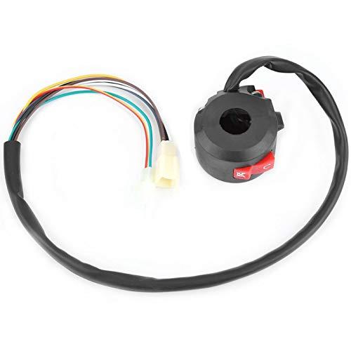 Interruptor de barra de mano, interruptor de motocicleta izquierdo de plástico de PVC negro para bicicleta eléctrica para luz antiniebla