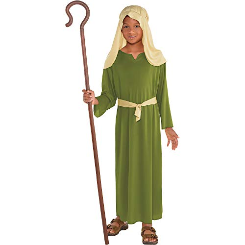 Amscan Green Shepherd Costume for Boys, Bible Costumes for Kids, Small, with Included Accessories