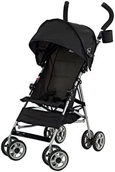 Kolcraft Cloud Lightweight Umbrella Stroller with Large Sun Canopy Black