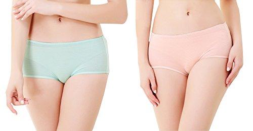 GIFTPOCKET Damen Schwangerschafts-Unterwäsche, Inkontinenz-Slip, Slips (2 Stück) -  mehrfarbig -  Mittel