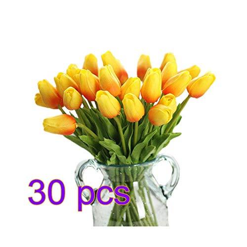 WanTo 30 stücke PU Gefälschte Künstliche Tulpen Flores Artificiales Bouquets Party Real-Touch Künstliche Blumen Für Zuhause Hochzeitsdekoration, 3