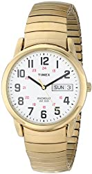 Timex Men's T20471 Easy Reader Gold-Tone Expansion Band Watch