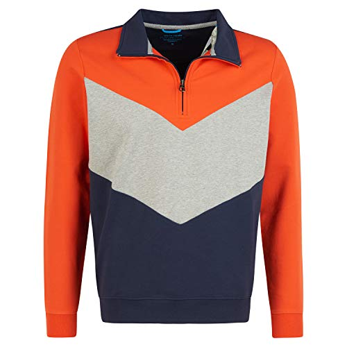 Pierre Cardin Sweatshirt mit Zipper orange (4695 Fiesta) L
