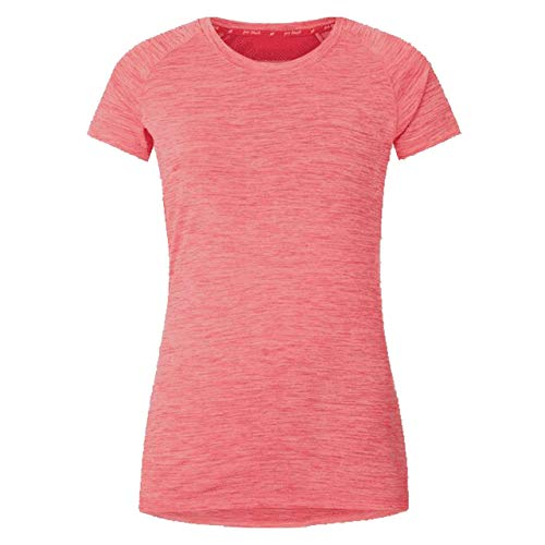 Pro Touch Eevi Femme T-Shirt, Melange/Red, FR : XS (Taille Fabricant : 36)