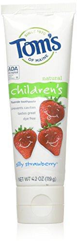 Tom'S Of Maine Children'S Natural Toothpaste Silly Strawberry 4.2 Oz 6 Case