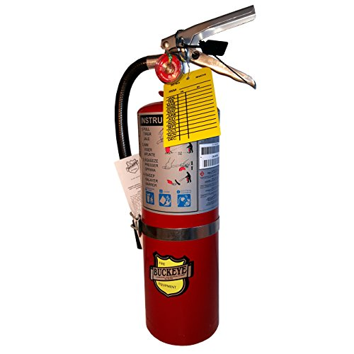 5 LB ABC Fire Extinguisher, Dry Chemical, Fire Extinguisher, with Vehicle Bracket, Visual Monthly Record Tag