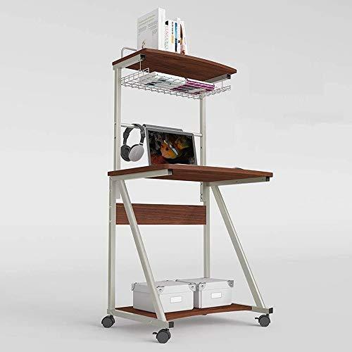 SVHK Mobile Mesa de Ordenador portátil, con Bandeja for Teclado de ángulo Ajustable en Altura rentable balanceo de Estaciones de Trabajo, Que también Funciona como un Gran Atril