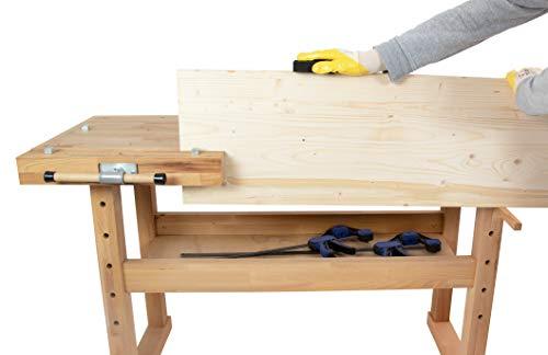Hobelbank BUCHE Werkbank Holzwerkbank Werktisch Arbeitstisch mit Spannzange - 5