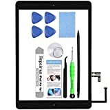 for iPad Air 1st Generation A1474 A1475 A1476 Screen Replacement Glass Touch Digitizer Repair Kit with Home Button & Tools - (Black)