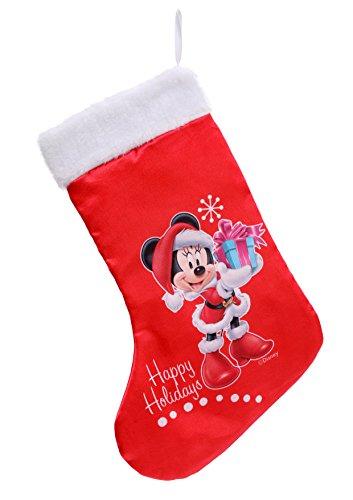 Ciao- Calza Natale Disney Minnie, Rosso, S, 90912
