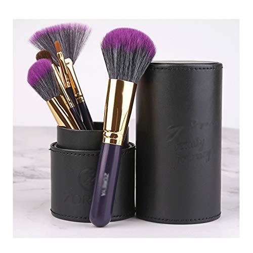 Pinceau de maquillage Set 7 pièces pinceaux de maquillage professionnel de fibres synthétiques for la Fondation premium fard à paupières Sourcils Eyeliner fard à joues en poudre Correcteur Contour ave