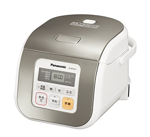 Panasonic Electronic Rice Cooker SR-MY051-S Silver (Japan Import)