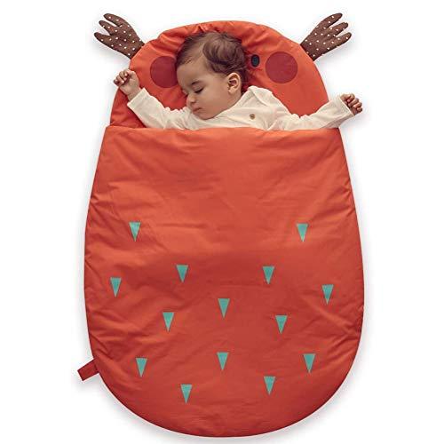 LDFANG Saco De Dormir De Algodón Puro para Bebé Manta De Seguridad a Prueba De Patadas Saco De Dormir para Bebé Manta De Abrigo para Bebés De 0 a 18 Meses Y Más (93 * 64 Cm),Naranja