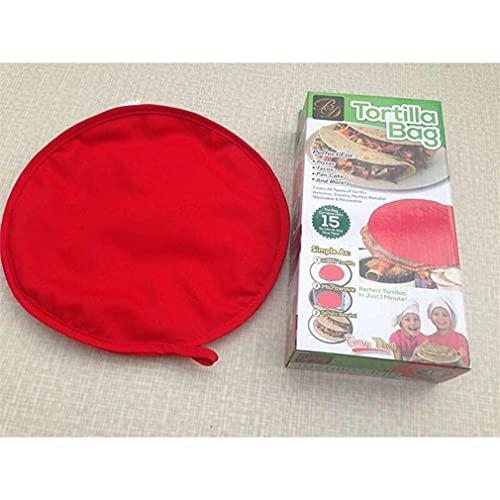 Uniquelove Horno De Microondas Bolsa De Calentamiento Rápido Bolsa De Pizza para Hornear Bolsa para Hornear De Pizza Redonda Herramienta De Cocina Lavable para Hornear - Rojo