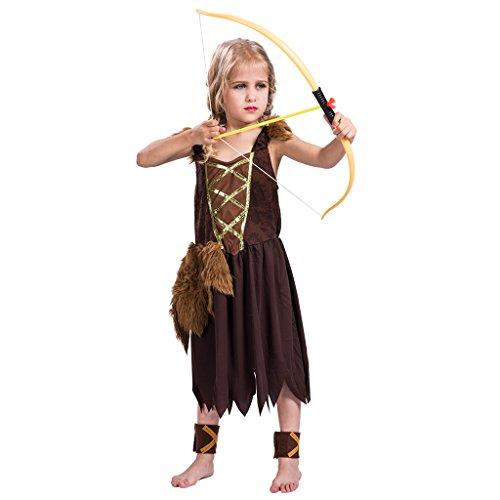 ReneeCho Girl's Viking Barbarian Halloween Costume, Medium