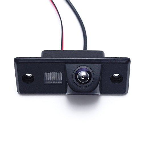 Kalakass CCD impermeable de la visión noctur Cámara de visión trasera del coche para Passat B5 Passat (MK5) 2001-2005 Touareg Tiguan Polo Sedan(2008-2009) Fabia