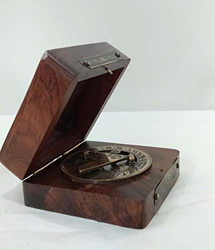 "Dekor Mobilya - Bussola in ottone marino, stile marinaio, con scritta in inglese ""SIR William & Thomas"""