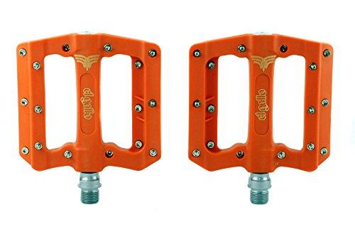 El Gallo Components Fix - Pedales para Bicicleta, Color Naranja