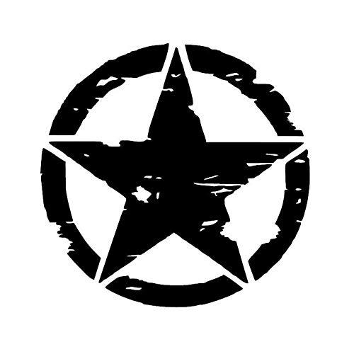 greestick Aufkleber US Army Stern 15x15cm schwarz by Sticker Star Militär Offorad Wanderlust