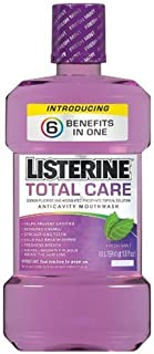 Listerine Total Care, 6 Benefits in One, Anticavity Fluoride Rinse, 33.8-Ounce Bottles (Pack of 6)