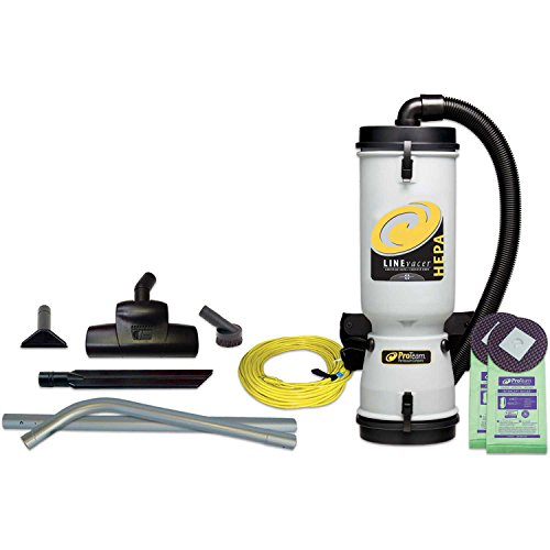 Best Buy! ProTeam 10 Qt. LineVacer HEPA Backpack Vacuum w/Friction Fit Wand 1-1/2, Tool Kit
