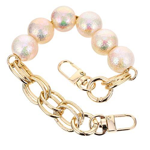 SOIMISS Imitación de la perla del bolígrafo; asa de cadena corta de la bolsa de la cadena de repuesto de la cadena de la bolsa de los accesorios